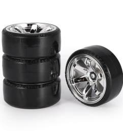 pkpns 4pcs rc drift tires set for 1 10 traxxas hsp tamiya on road [ 900 x 900 Pixel ]