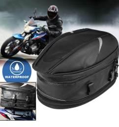 motorcycle rear tail bags sport back seat bag scooter helmet waterproof pack [ 1001 x 1001 Pixel ]
