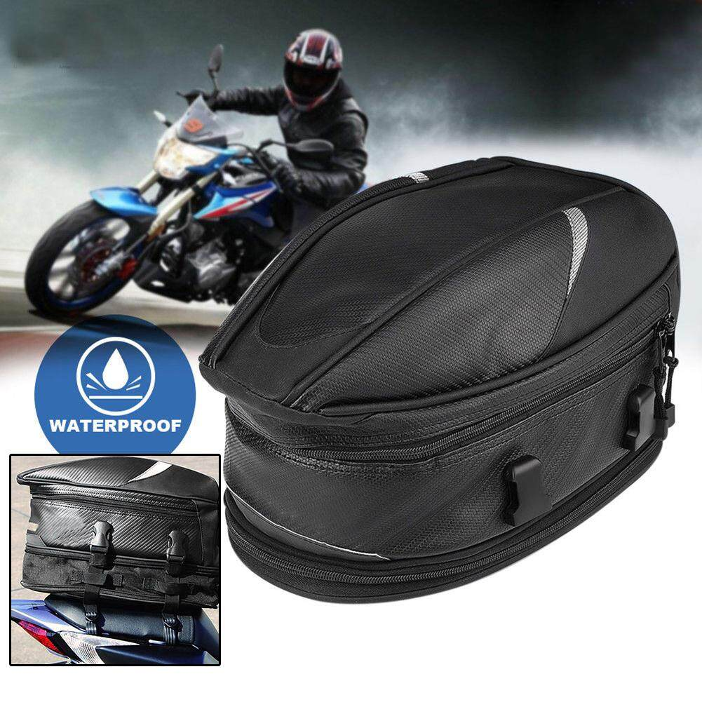 hight resolution of motorcycle rear tail bags sport back seat bag scooter helmet waterproof pack