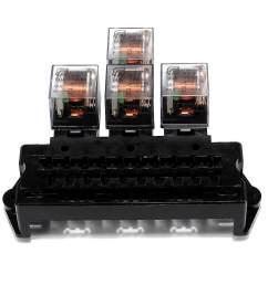 auto boat car 5 pin relay 12v 10 way standard blade fuse box block holder [ 1200 x 1200 Pixel ]