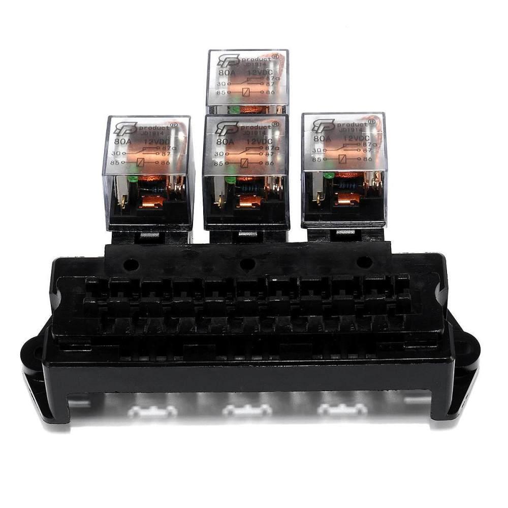 medium resolution of auto boat car 5 pin relay 12v 10 way standard blade fuse box block holder