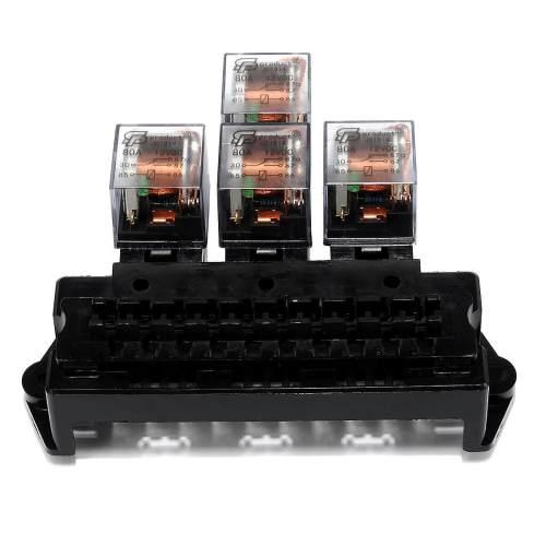 small resolution of auto boat car 5 pin relay 12v 10 way standard blade fuse box block holder