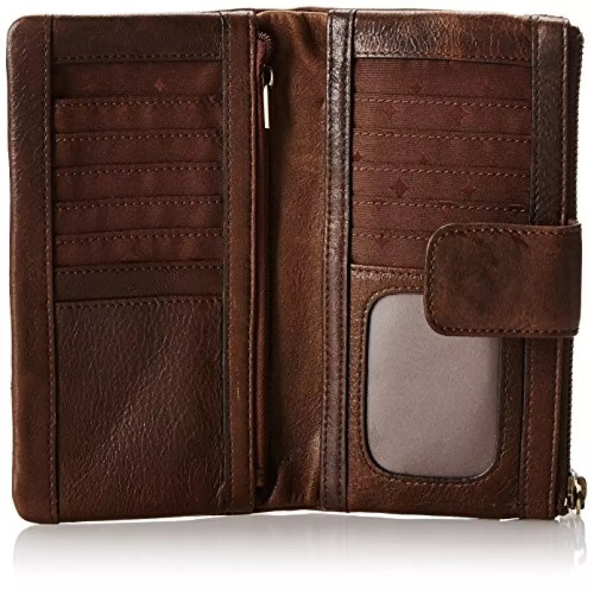 fossil emory wallet espresso one size