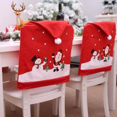Crochet Christmas Chair Covers Best Bedroom Lounge Decorations For Sale Holiday Prices Brands Redcolourful Non Woven Cover Red Hat Back Xmas Decoration