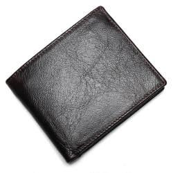 100% Kulit Asli Dompet Premium Produk Nyata Kulit Sapi Dompet untuk Pria Pendek Black Walet Portefeuille Homme