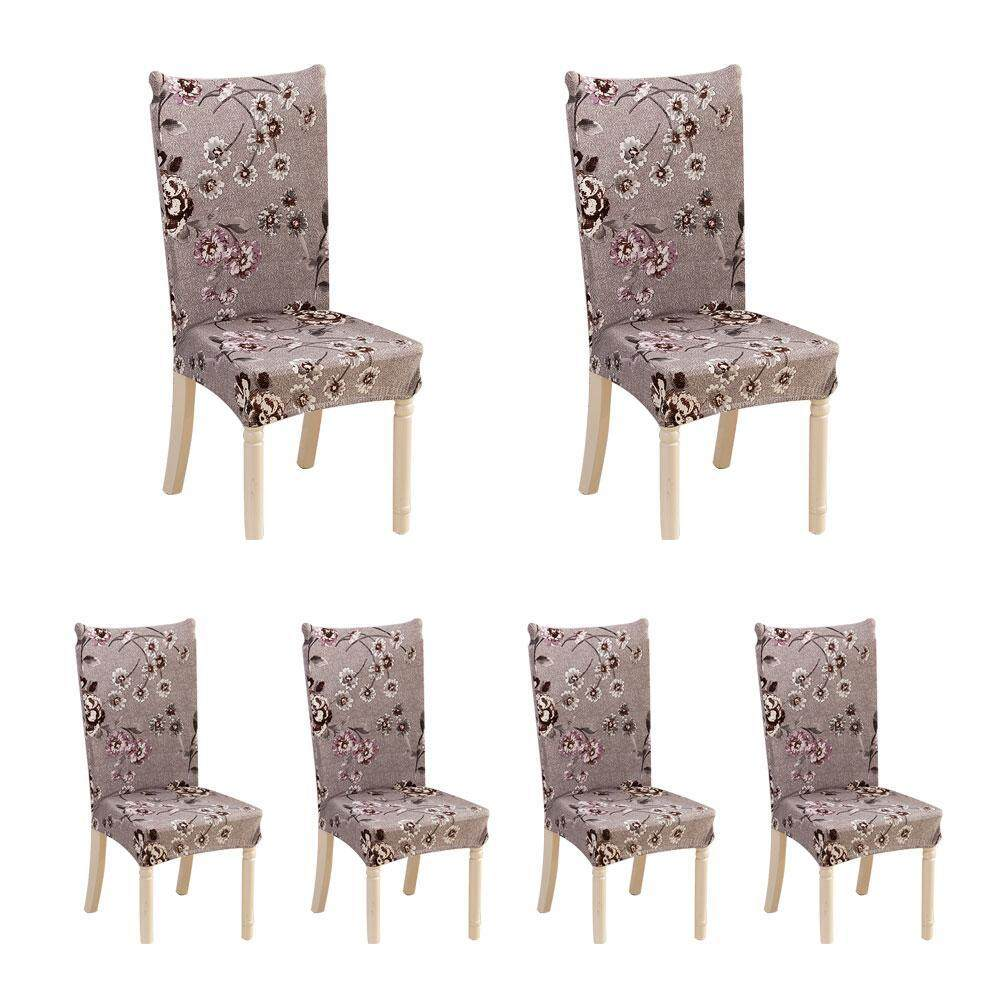 banquet chair covers malaysia kids reading chairs slipcovers for sale slipcover prices brands review in outflety 6 pcs soft short dining room with printed pattern protector seat