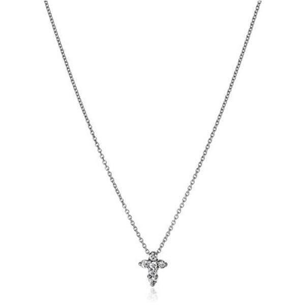 Roberto Koin Kecil Harta 18 K Berlian Emas Putih Bayi Cross Kalung Liontin 1