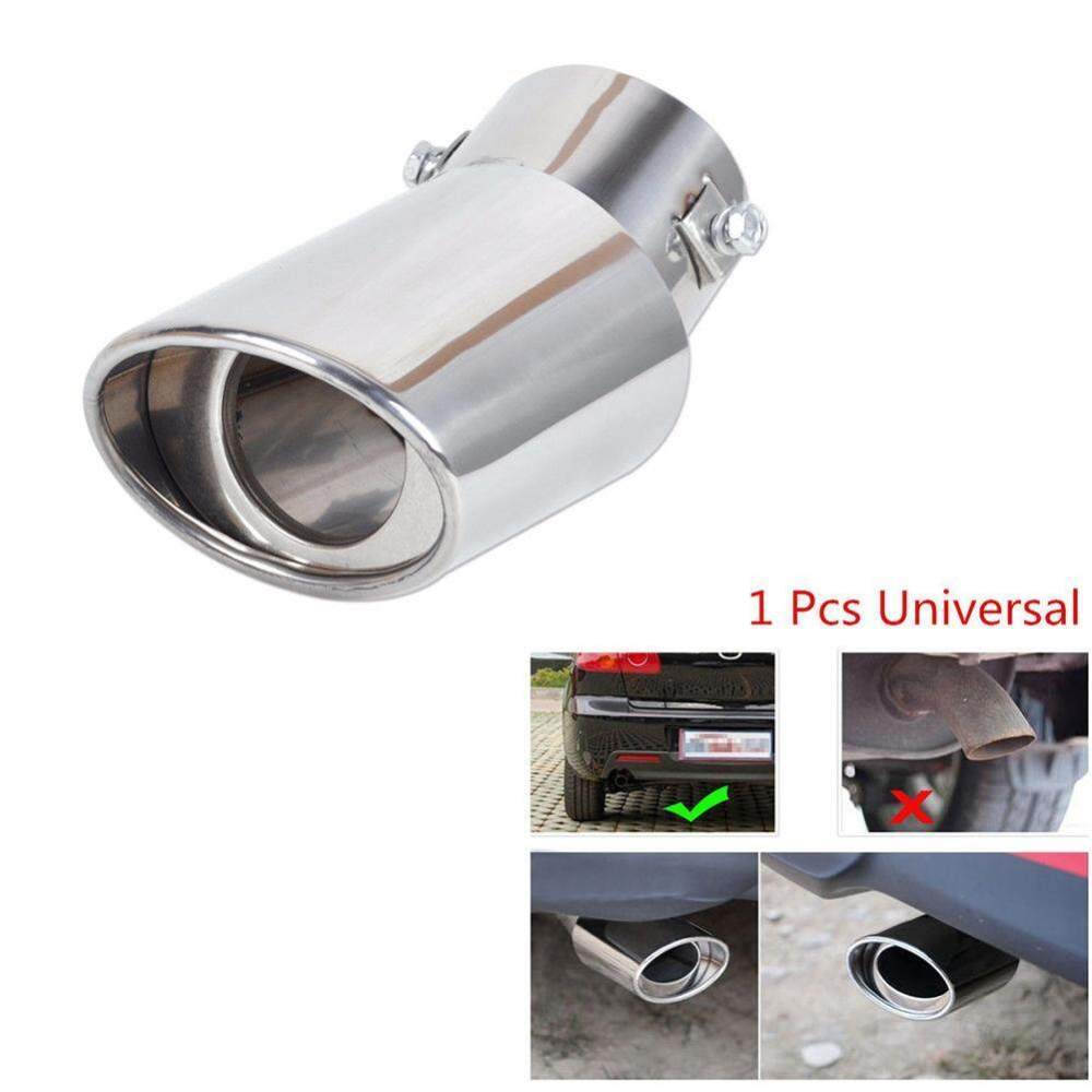 medium resolution of blackhorse new stainless steel car auto vehicle exhaust muffler tail pipe tip trim decorative intl