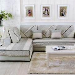 Quilted Embroidery Sectional Sofa Couch Slipcovers Furniture Protector Cotton Cover Sets Online For Sale Baby Chair Covers Brands Prices Goft Modern Seats Mat Non Slip Printed 70 150cm