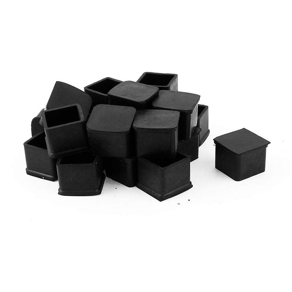 Caps For Chair Legs 20pcs Square Chair Table Leg Foot Rubber Covers Protectors 25mm X 25mm