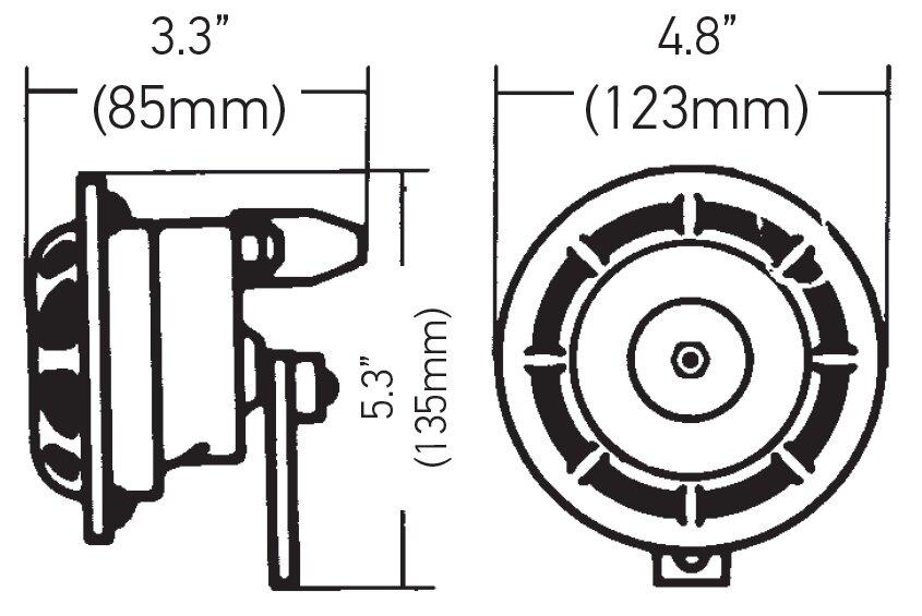 100% Genuine HELLA Supertone Dual Horn Set w Relay for UTE