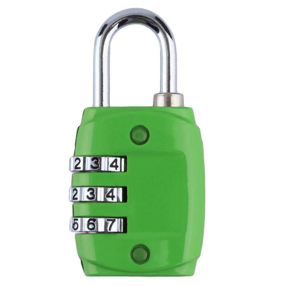Beau Paduan Seng Keamanan 3 Kombinasi Tas Koper Bepergian Gembok Kunci Kode