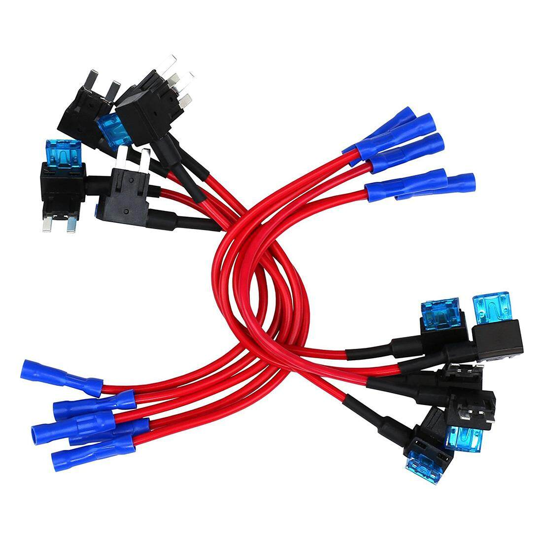 hight resolution of 10 pack 12v car add a circuit fuse tap adapter mini atm apm