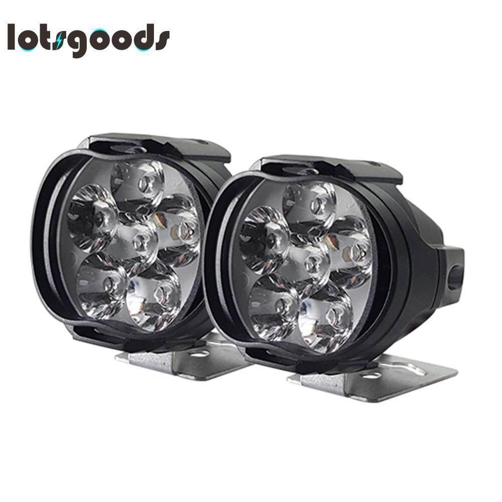 hight resolution of 2pcs cnsunnylight 1000lm motorcycle 6led headlights scooter fog spotlights