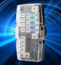 car audio stereo anl blade fuse holder distribution blocks 0 4ga 4 way fuses box [ 1001 x 1001 Pixel ]