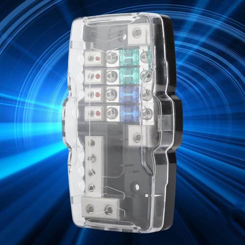 small resolution of car audio stereo anl blade fuse holder distribution blocks 0 4ga 4 way fuses box