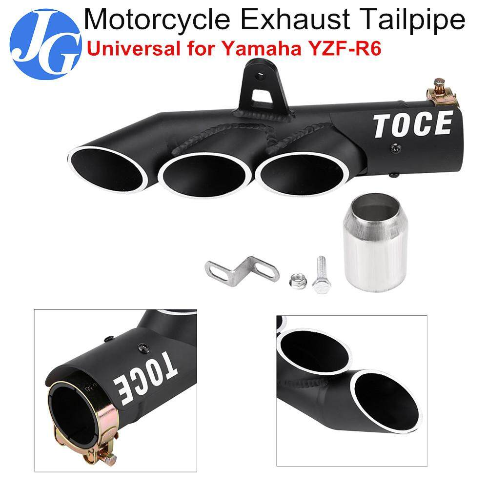 medium resolution of justgogo motorcycle exhaust muffler tail pipe three outlet tailpipe tip universal for ymaha yzf