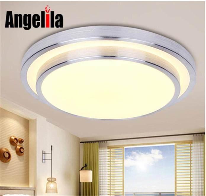 Angelila 11 Inci LED Lampu Plafon Diameter 28 Cm Lampu Modern Ruang Keluarga Lampu Pencahayaan Kamar Tidur Dapur LED Pasang Di Permukaan Lampu Panel