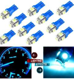 blackhorse 10pcs set t10 5smd 5050 car led wedge light plate license 194 2825 501 [ 1001 x 1001 Pixel ]