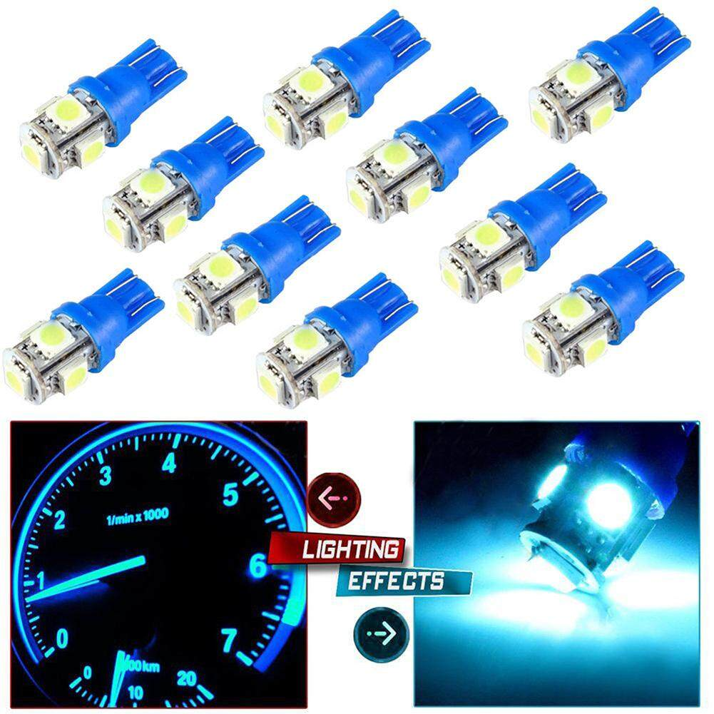 hight resolution of blackhorse 10pcs set t10 5smd 5050 car led wedge light plate license 194 2825 501