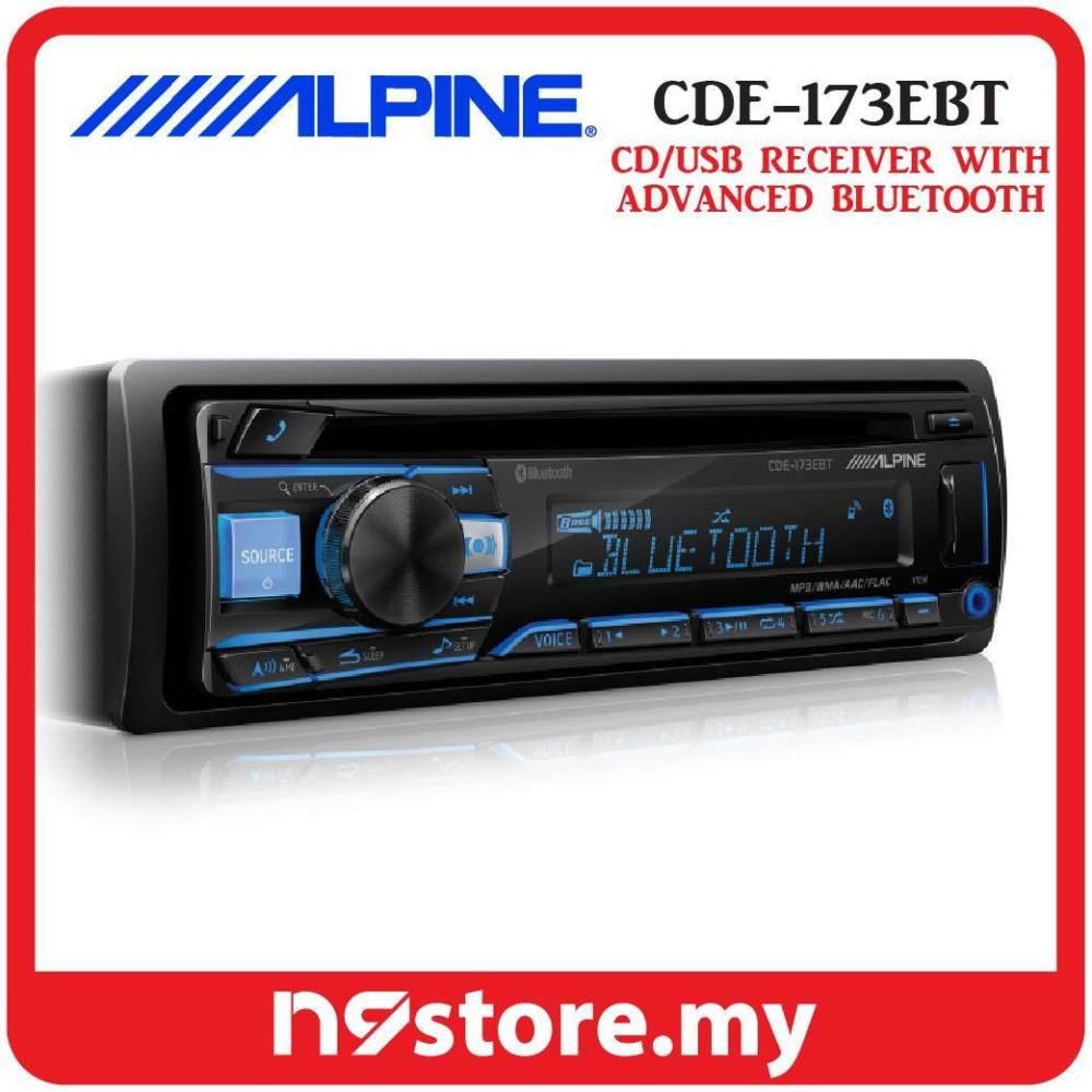 medium resolution of alpine cde 173ebt single din bluetooth cd usb aux car stereo receiver