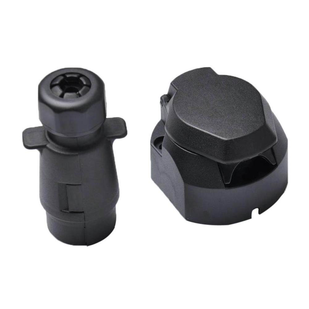 medium resolution of miracle shining round 7 pin trailer boat light adapter plug socket connector weather proof
