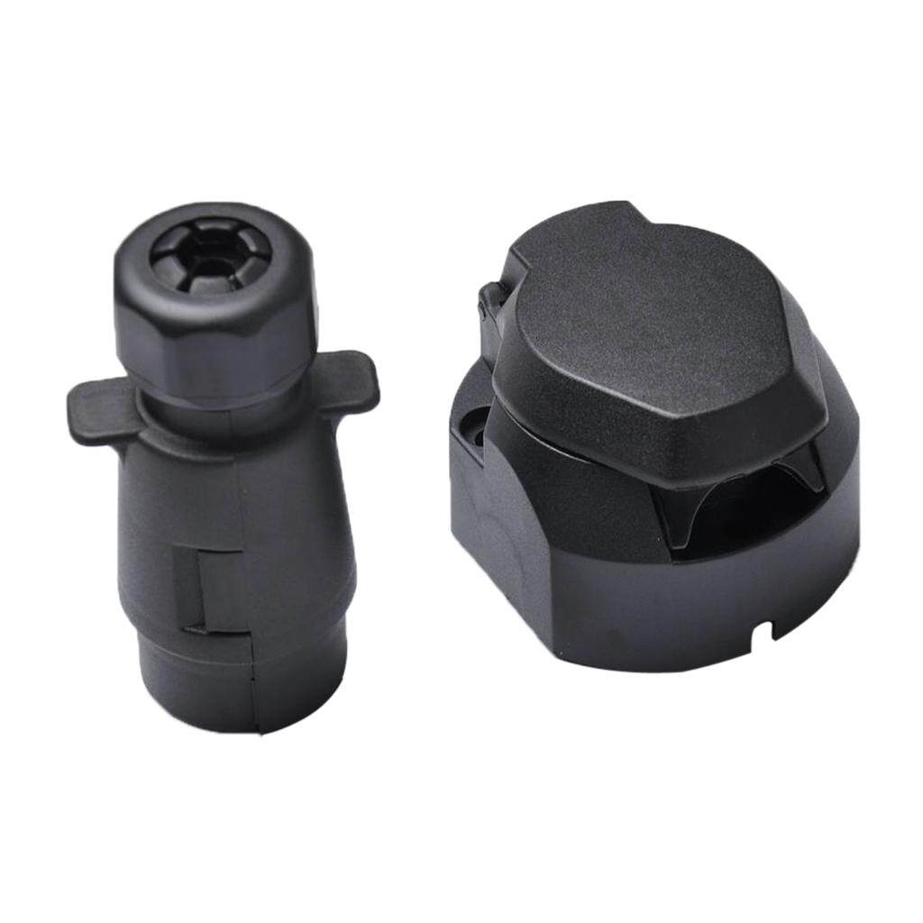 hight resolution of miracle shining round 7 pin trailer boat light adapter plug socket connector weather proof
