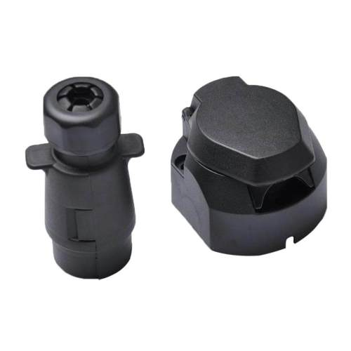 small resolution of miracle shining round 7 pin trailer boat light adapter plug socket connector weather proof