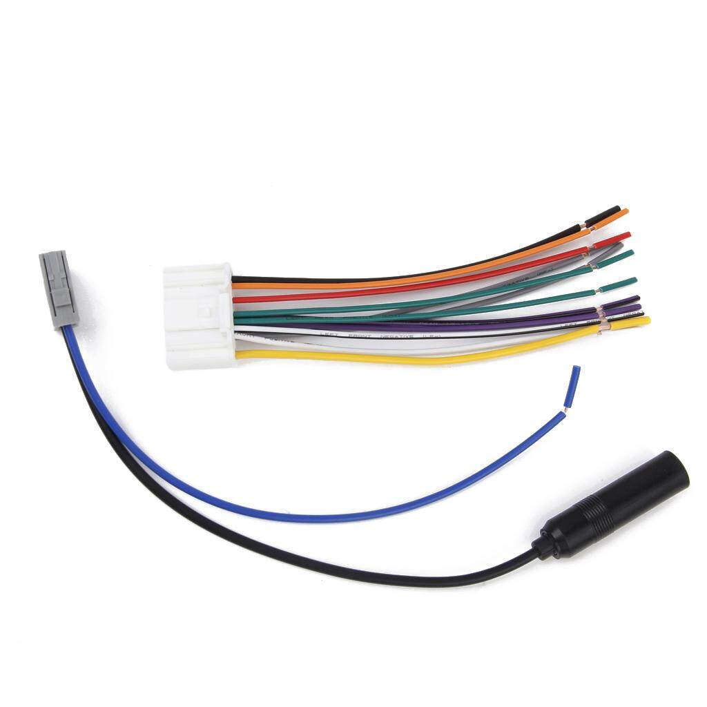 hight resolution of miracle shining car stereo wire radio audio wiring harness cable fm antenna for nissan versa