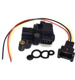 new idle air control valve iac with wire connector set 0280140575 for bmw 318i 318is 318ti [ 1600 x 1600 Pixel ]