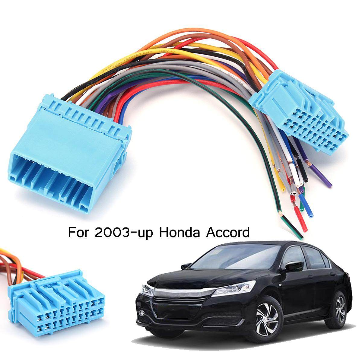 hight resolution of car stereo radio wire harness to factory harness for 2003 up honda accord