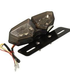 star mall motorcycle 12v led taillight turn signal rear brake license plate light bracket [ 1200 x 1200 Pixel ]