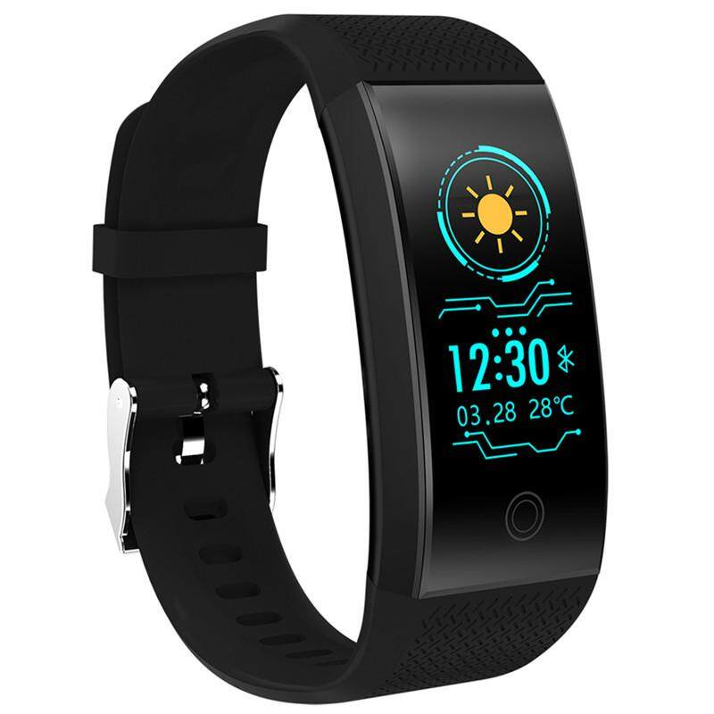 QW18 Smart Band Color LCD screen IP68 Waterproof Fitness Tracker Smart Bracelet with Heart Rate monitor Smart Wristband - intl
