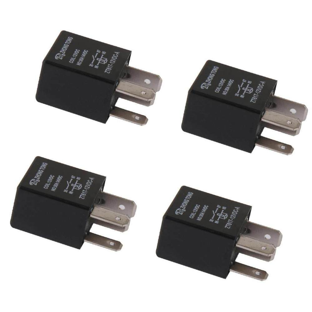medium resolution of miracle shining 4 pieces car automotive 12v 30 amp 4 pin spst relay for alarm horn