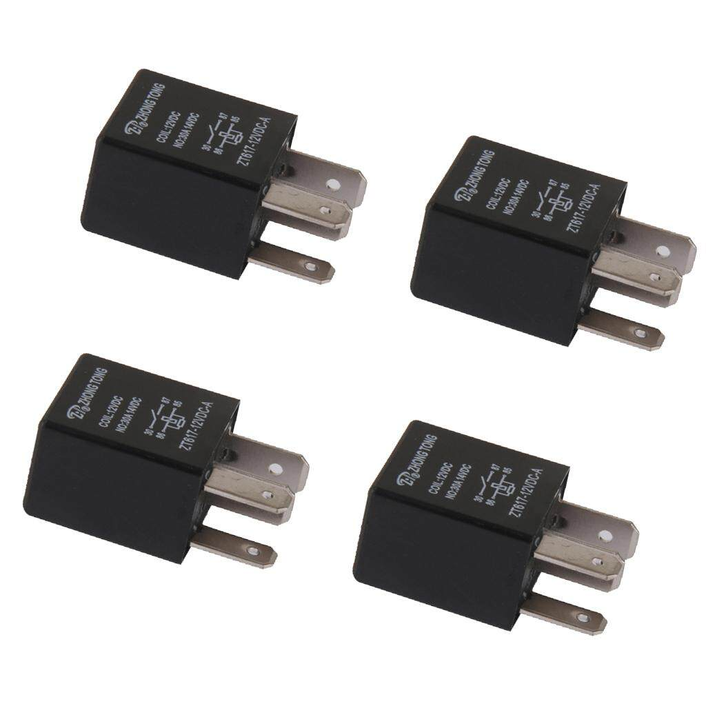 hight resolution of miracle shining 4 pieces car automotive 12v 30 amp 4 pin spst relay for alarm horn
