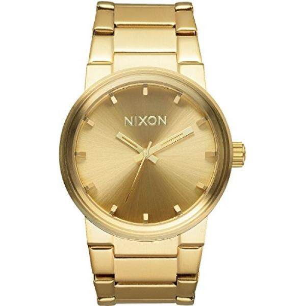Nixon Cannon A160. 100m Water Resistant Men's Watch (39.5 mm Gold Watch Face/ 26-23 mm Gold Stainless Steel Band) - intl