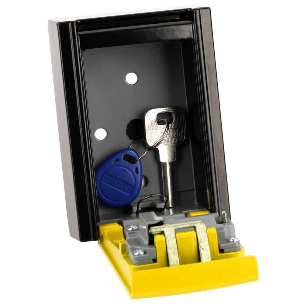 [HOT SALE]4 Digit Combination Password Key Storage Box Wall Mounted Safety Lock Tool (Yellow)