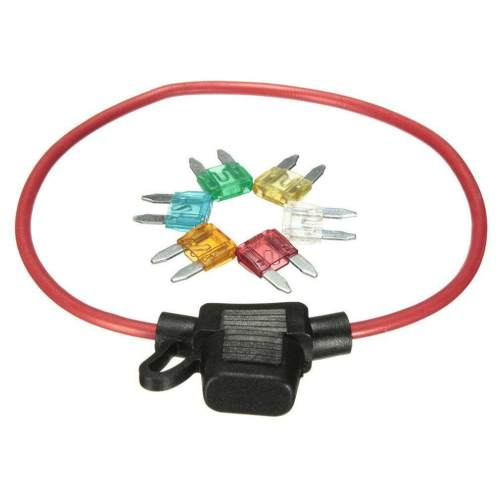 small resolution of krc auto car 12v in line mini blade fuse holder with 5 10 15 20