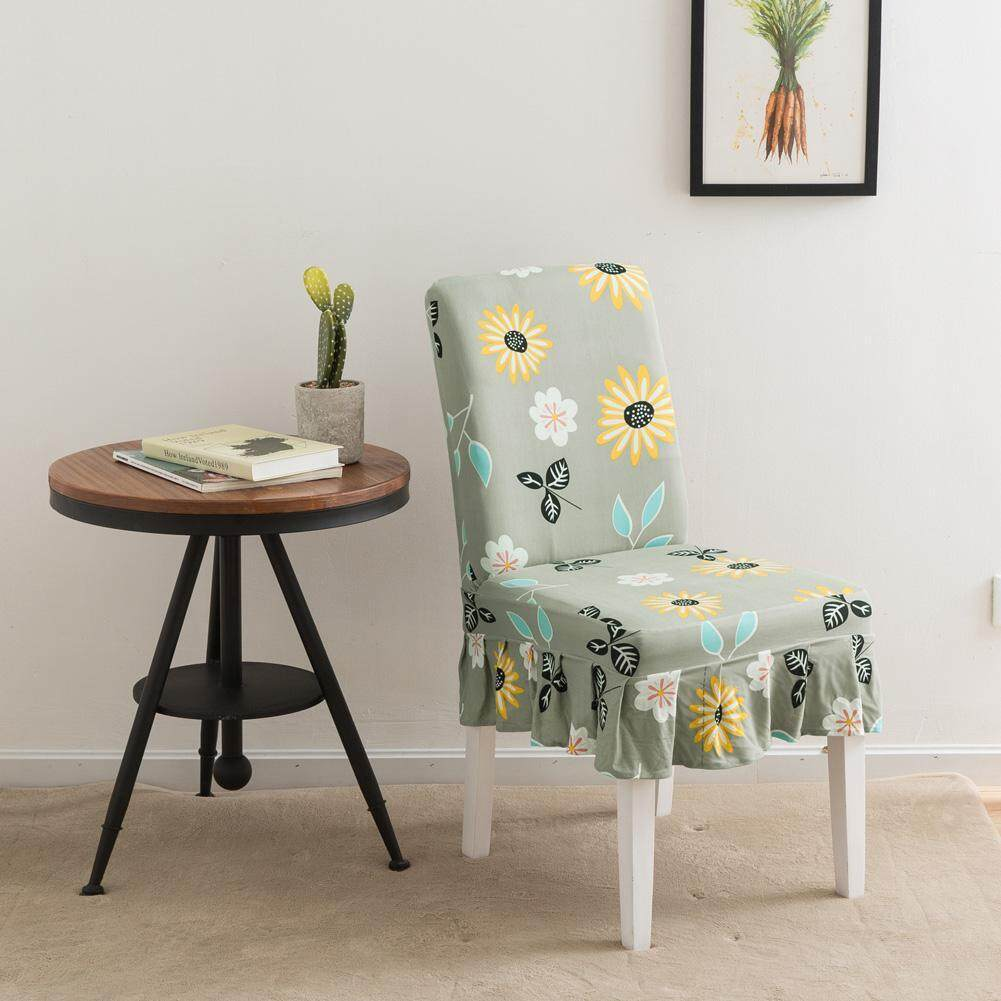 Restaurant High Chair Cover Cek Harga High Quality Fabric Sunflower Print Elastic Knitted