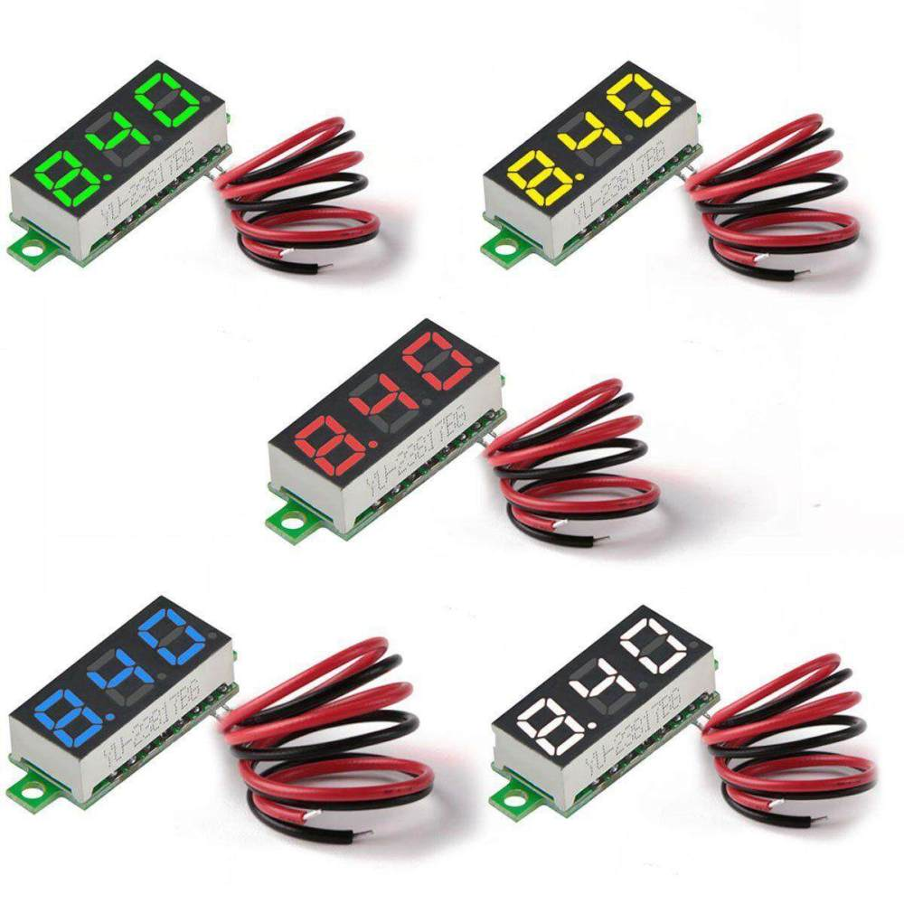 medium resolution of 5pcs mini digital dc voltmeter 0 28 inch two wire 2 5v 30v mini digital
