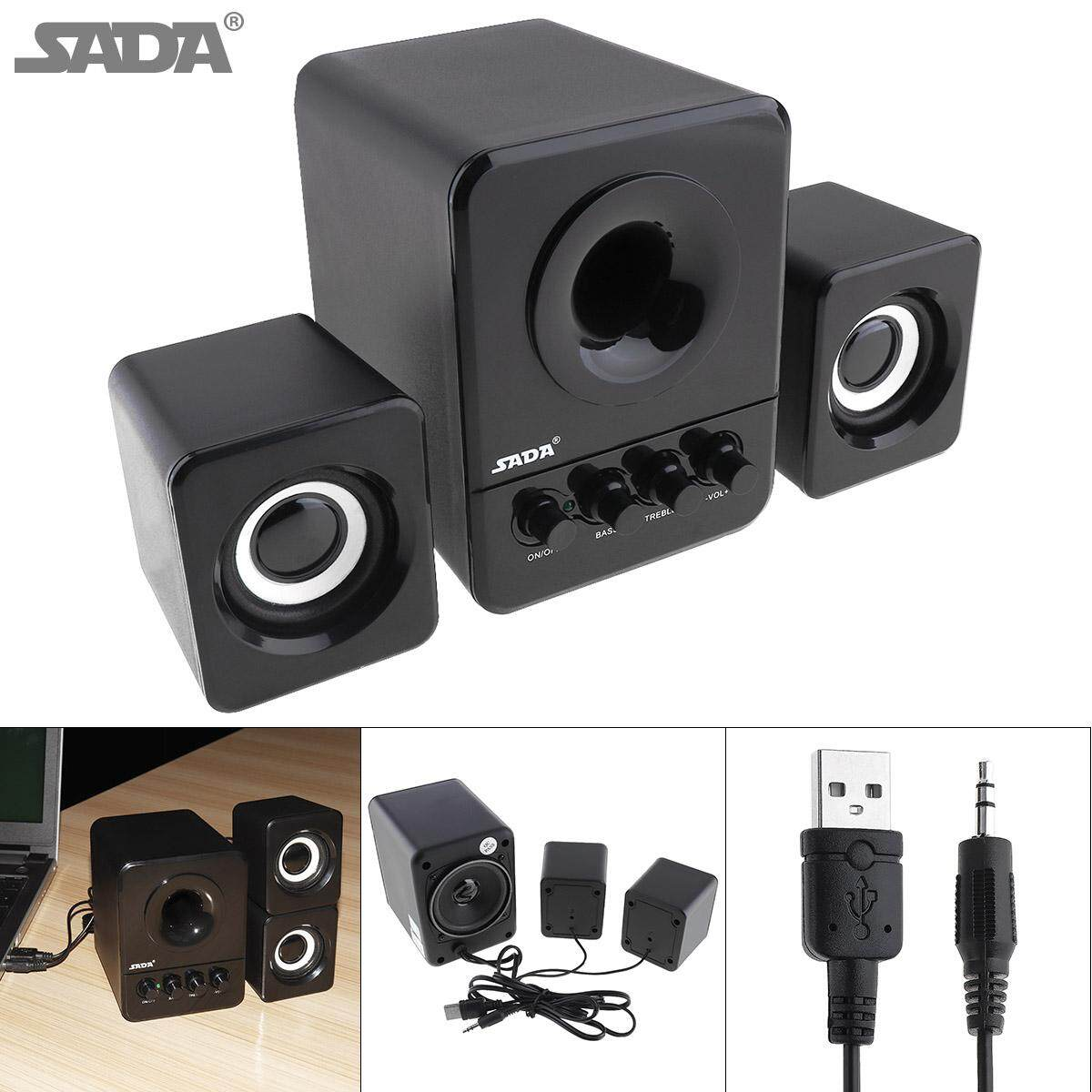 D-203 Wired Mini Portable Bass Cannon 3W PC Combination Speaker Mobile Column Computer Speaker with 3.5mm Audio Plug and USB 2.1 Wired for Laptop Computer - intl