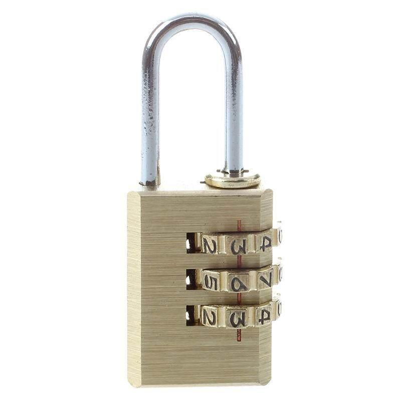 3-D Kuningan Gembok Kombinasi Yang Dapat Direset Tas Ransel Kode Kunci-Intl