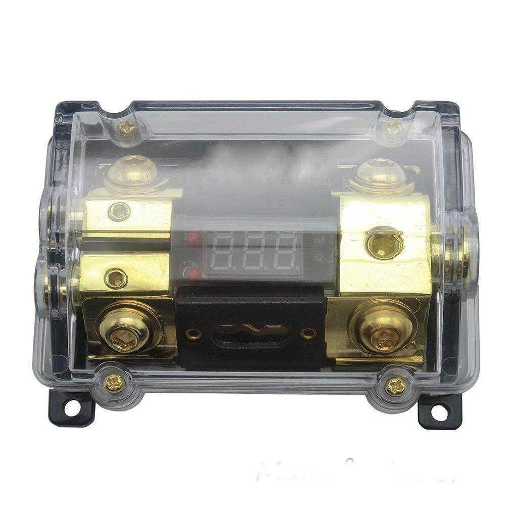 hight resolution of car audio digital led display fuse holder anl include 2 fuses distribution block 1 way in