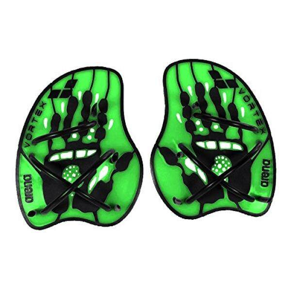 arena Vortex Evolution Hand Paddle, Acid Lime/Black, Medium - intl