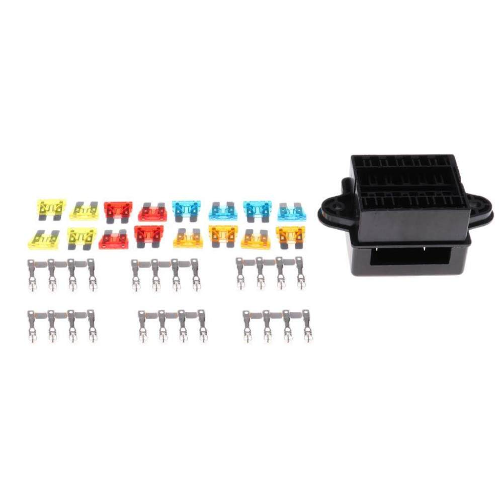 medium resolution of miracle shining universal 12 loop road medium relay fuse box holder socket with terminals intl