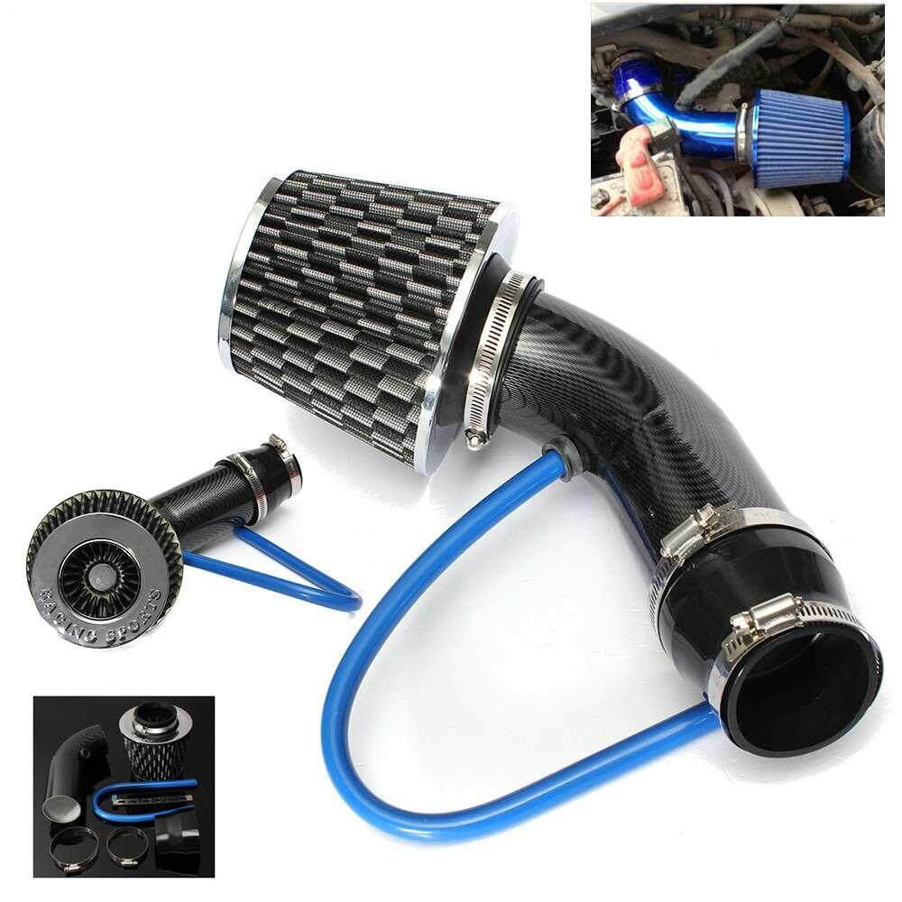 medium resolution of canglex universal car automobile racing air intake filter alumimum pipe power flow kit