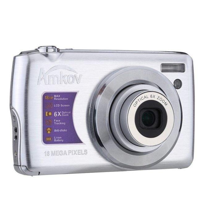 Belete Amkov HD Perekam Video Kamera Digital 15MP 2.7  X9DTFTLCDAnti-shake Layar 4x Optik Zoom (Perak)-Internasional