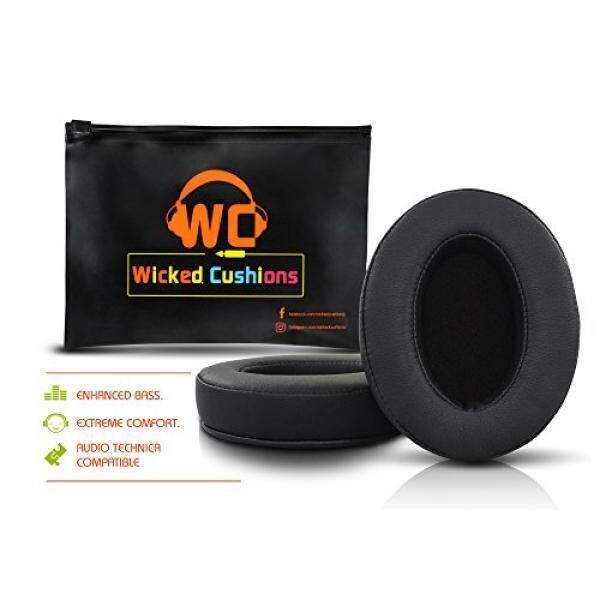 [DNKR]Wicked Cushions ath m50x Replacement Ear Pads - Compatbile with ATH M50 / M50x / M40 / M40X / Sony MDR / Shure SRH 440 / Fostex T50RP / monoprice 8323 / takstar hi 2050 And More Oval Shaped Headphones - intl