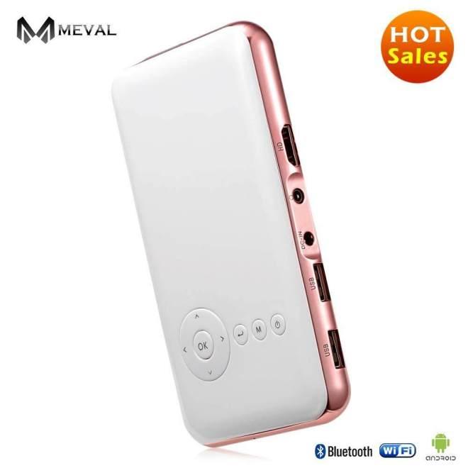 Meval S6s Mini Proyektor HDMI 1080 P HD Rendah Harga Rumah Cinema 1080 P Penuh HD Pintar Projector HDMI 1080 P 1G/32G Rom-Internasional