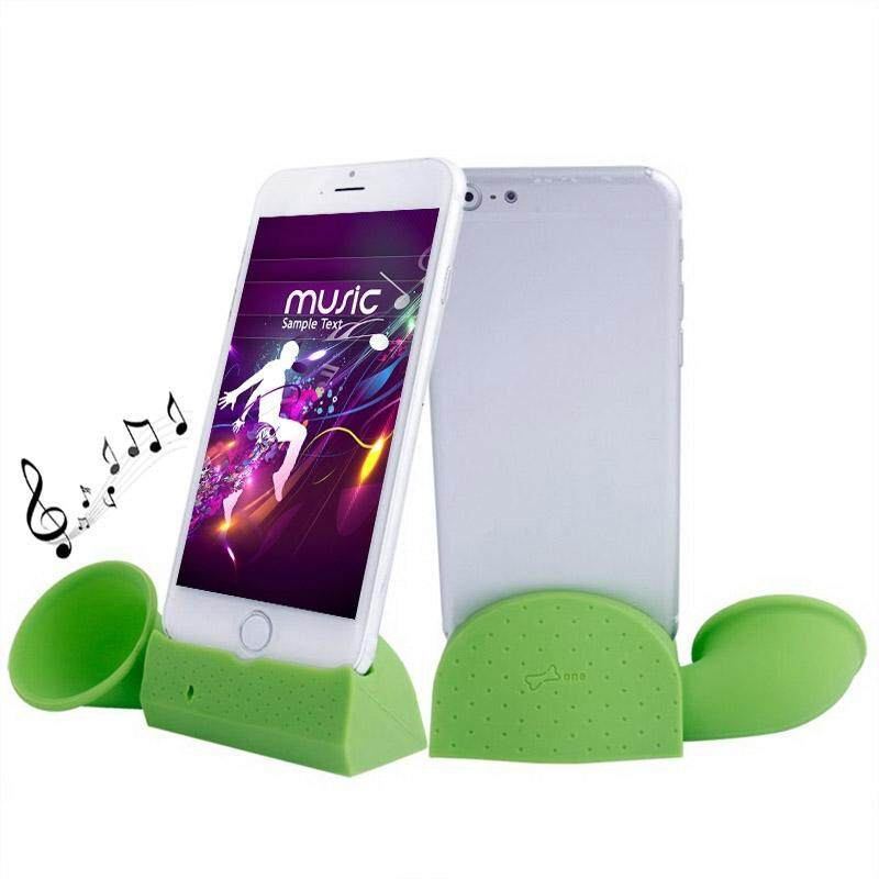 Portable Amplifier Silicone Horn Stand Speaker, For iPhone 6 / iPhone 5 & 5S & 5C / iPhone 4 & 4S(Green) - intl
